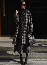 Chloe Wool Check Coat